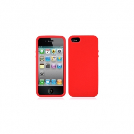 Housse silicone iPhone 5 / 5S / SE - Rouge
