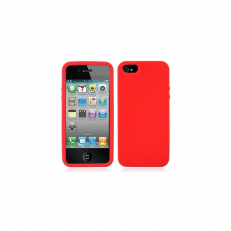 Housse silicone iPhone 5 /5S / SE - Rouge