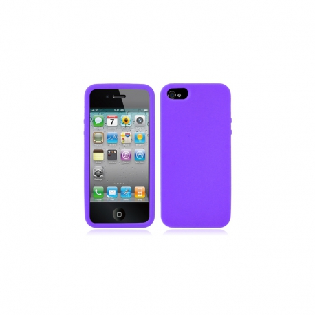 Housse silicone iPhone 5 / 5S / SE - Violet