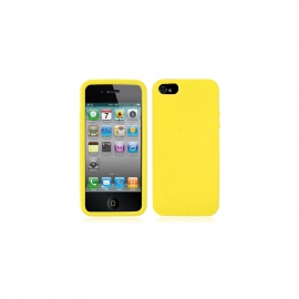 Housse silicone iPhone 5 /5S / SE - Jaune