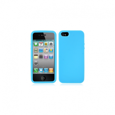 Housse silicone iPhone 5 / 5S / SE - Turquoise