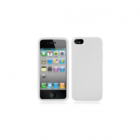Housse silicone iPhone 5 / 5S / SE - Blanc transparent