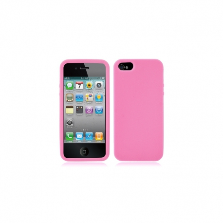 Housse silicone iPhone 5 /5S / SE - Rose clair