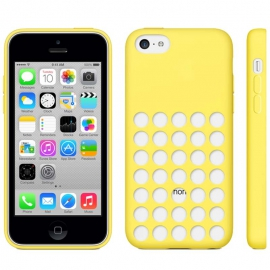 Housse silicone iPhone 5C - Jaune