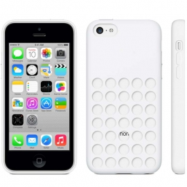 Housse silicone iPhone 5C - Blanc