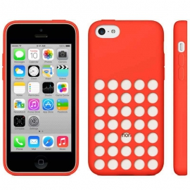 Housse silicone iPhone 5C - Rouge